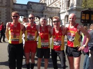 London Marathon Team 2014