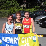 Fallows 1st 3 ladies. left to right S.Ward D wilson. S Mcneilly