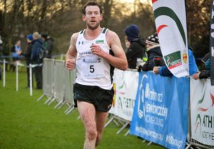 Seamy Lynch approaches the finish win the best race of his life
